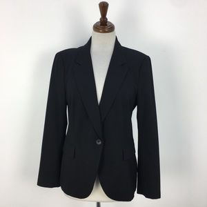 Zara Black Single Button Modern Blazer